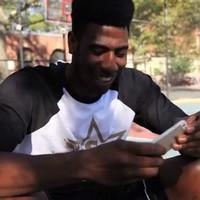 Knicks player Iman Shumpert dunks and destroys an iPhone 5
