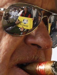 Game over - Miguel Angel Jimenez has already won the Ryder Cup for being one cool badass