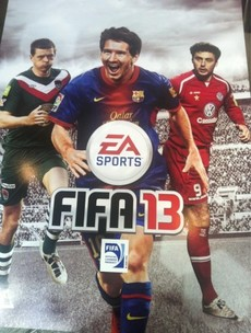 Messi joined by LOI stars on the front of FIFA 13