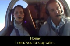 This guy wanted to propose to his girlfriend - so he pretended to crash a plane