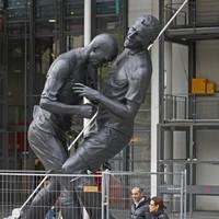 French artist unveils giant bronze sculpture of Zidane's famous head-butt