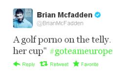 Tweet Sweeper: Brian McFadden likes a smutty joke