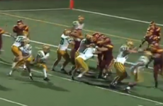 VIDEO: A QB throwing the football like it's a wedding bouquet