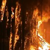 Syrian fighting torches historic medieval market