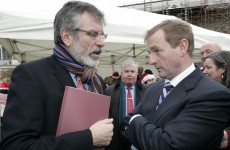 Gerry Adams tells Enda Kenny: stop bringing up the IRA