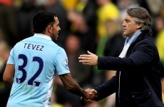 Mancini: Tevez is a changed man