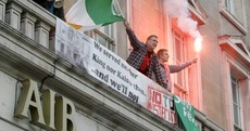 GALLERY: Protestors occupy AIB branches over €1 billion bond repayment