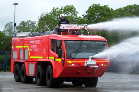 A Dublin Airport fire engine, in tradition red colours (File photo)