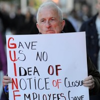 Guineys and Clerys staff hold protest over store closures