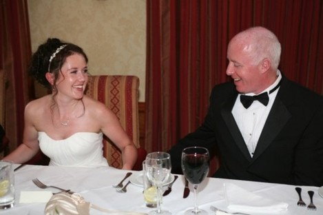Jill Meagher and her father George McKeon, seen at Jill's wedding to her husband Tom in 2008.