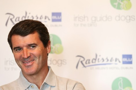 Roy Keane at the launch of the SHADES campaign in May.
