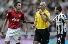 Pardew calls on FA to take action over RVP 'elbow'