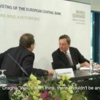 Mario Draghi and his VP caught joking on mic