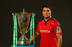 Blazing squad: Doug Howlett happy to lead Munster into Stade de France hot-house