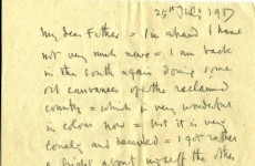 WWI letters from artist William Orpen discovered in library storage