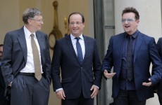 Bonjour Monsieur le Président: Bono (and Bill Gates) meet Francois Hollande
