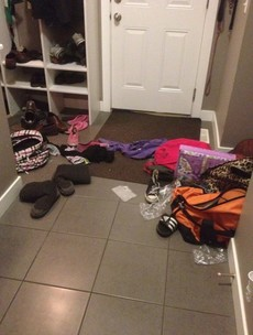 Pictures: Mother goes on cleaning strike, doesn't tell kids