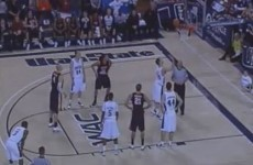 Take that physics! Check out his crazy free-throw