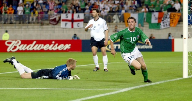 Because we need something to cling to, here's Robbie's equaliser from the 2002 World Cup