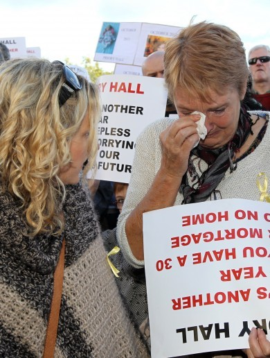 PICTURES: Tears at the Priory Hall protest march