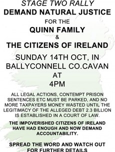 There's another rally for the Quinns in Cavan today