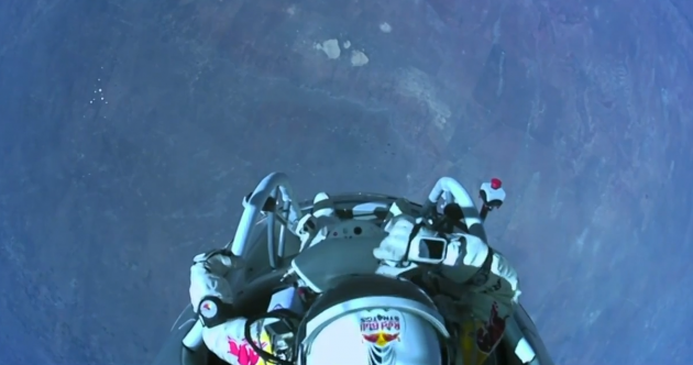 This is what a 24-mile skydive looks like