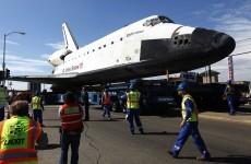 Space shuttle finally reaches California Science Center
