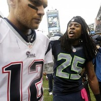 U mad bro? A Seahawks player taunted Tom Brady with a photo after his collapse in Seattle