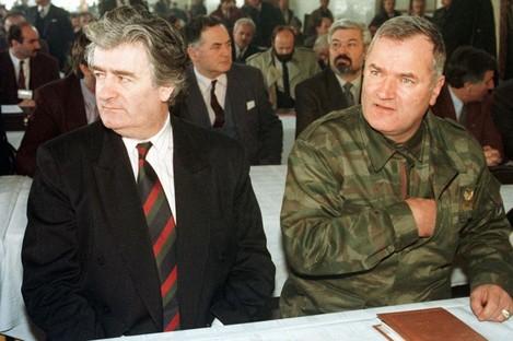 Former Bosnian Serb leader Radovan Karadzic and Gen. Ratko Mladic
