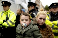 Photos: Protesters march to Dáil over home help cuts
