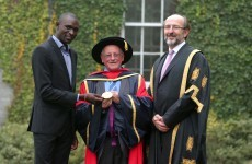 Olympic gold medallist Rudisha visits DCU as Irish missionary is honoured