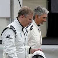 Flashback: Damon Hill behind the wheel of an F1 car at Barcelona