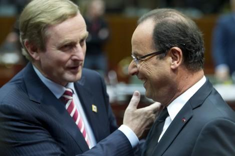 Kenny and Hollande in Brussels last week.