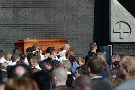 The funeral of Alan Ryan