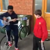 Rihanna's We Found Love... covered excellently by two kids from Kildare