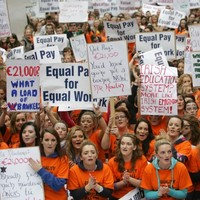 PHOTOS: Teachers protest over class sizes and unequal pay