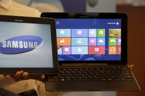 A Samsung smart PC and tablet, powered by a new version of Microsoft's Windows operating system.