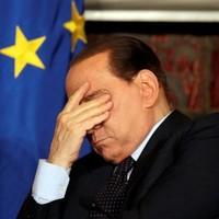 55 pictures of Silvio Berlusconi looking sad, glum, or generally displeased