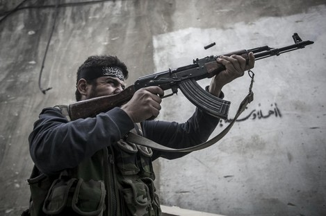 A Free Syrian Army fighter