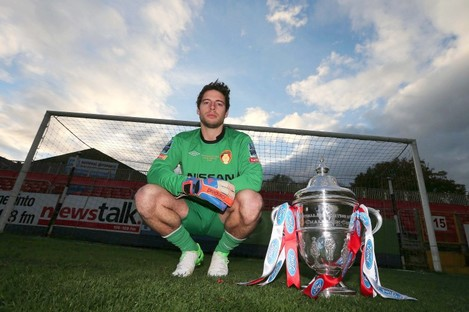 Pat's keeper Barry Murphy.