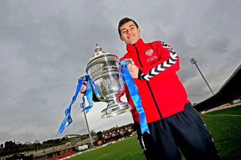 McDaid with the Ford FAI Cup last week.