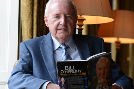 Bill O'Herlihy at the launch of his book.
