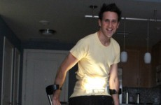 Paralympic skiier Josh Sundquist dresses up as leg lamp, wins Halloween