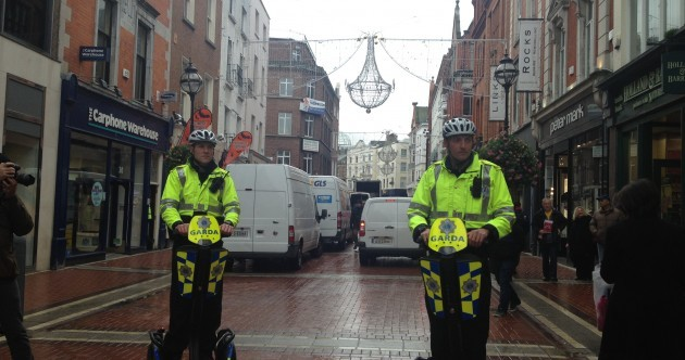 Pics: Gardaí get rolling on their new Segways