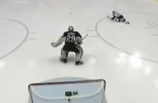 Watch: NHL's second-leading scorer falls down during penalty shot attempt