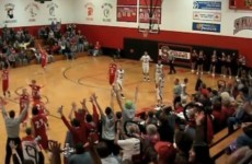 Watch this school kid's incredible no-look, half-court buzzer-beater