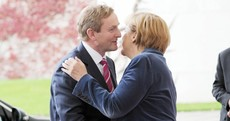 Enda lobs the gob on Angela