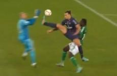 VIDEO: Watch Zlatan's karate kick on the St Etienne goalkeeper