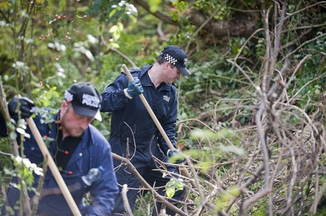 North Wales police officers searching for Catherine Gowing