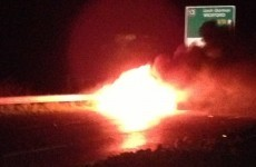 Motorists warned: N11 blocked over car on fire